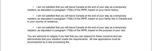 دلایل ریجکت شدن ویزای کانادا